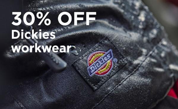 30% Off Dickies Workwear