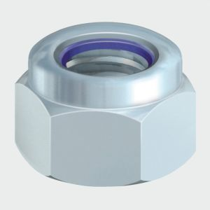 P Nylon Nut DIN 982 - BZP