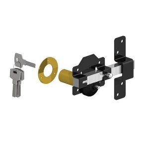 Gatemate Premium Long Throw Lock - Single Locking Stainless Steel 50mm