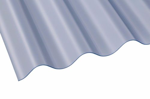 "3"" PVC Corrugated Sheet 762mm x 0.8mm x 1825mm Clear"