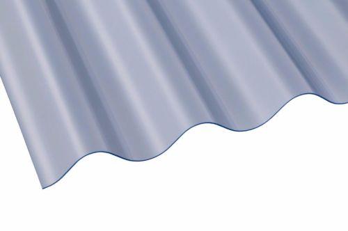 "3"" PVC Corrugated Sheet 762mm x 0.8mm x 3050mm Clear"