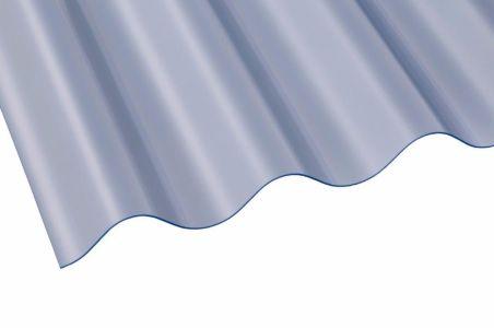"3"" PVC Corrugated Sheet 762mm x 1.3mm x 2425mm Clear"