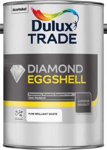 5082320 Dulux Trade Diamond Eggshell Pure Brilliant White 5L