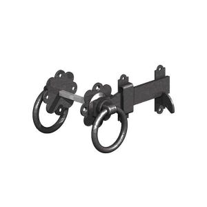 Gatemate Ring Gate Latch 150mm Painted Steel - Black