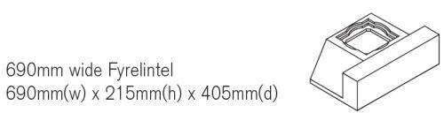 690mm Wide Fyrelintel