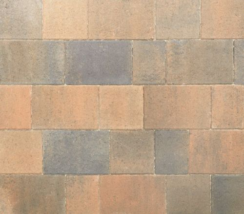 Stonemarket Avenu block paving - burnt ochre