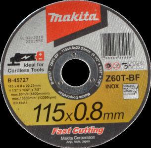 Makita Thin Cut Off Wheel 115 X 0.8 X 22 B-45727