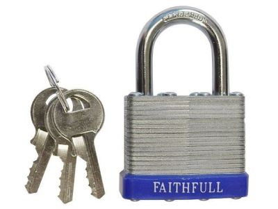 Steel Laminated Padlock 50mm