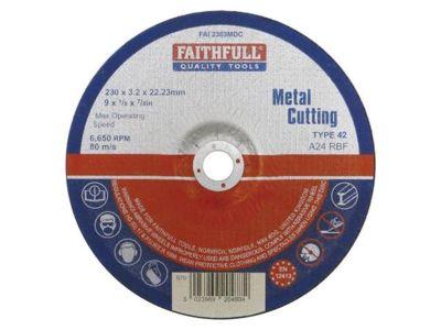 Cutting Disc Metal Depressed Centre 230mm x 3.2mm x 22mm