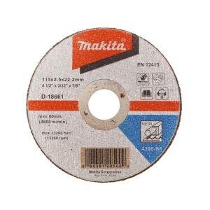 Makita Cut Off Wheel A30S 115 X 2.5 X 22.23 D-18661