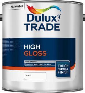 Dulux Trade High Gloss White 2.5 Litre 5089681