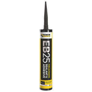 Everbuild Black EB25 Sealant & Adhesive - 300ml