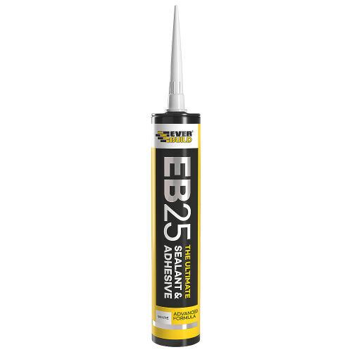 Everbuild White EB25 Sealant & Adhesive - 300ml