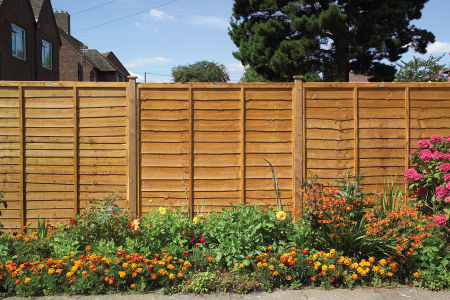 Rustic Lap Fence Panel