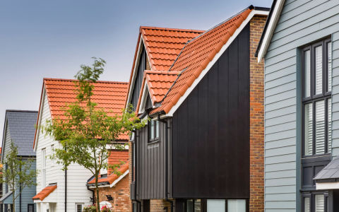 Housing with HardiePlank external cladding