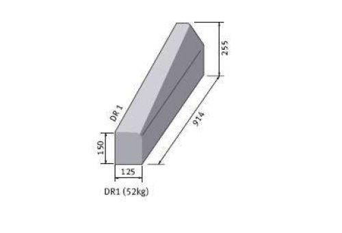 Supreme HP Right Hand Drop Kerb hb/bn 255m x 125mm