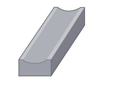 Supreme HP Dished Channel Kerb 255mm x 125mm x 915mm