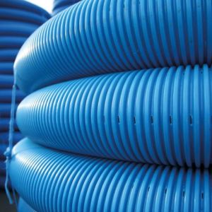 Polypipe Land Drain Perf + CPL Blue 100 Metre x 100mm