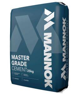 Mannok Master Grade Cement - 25Kg Plastic Bag