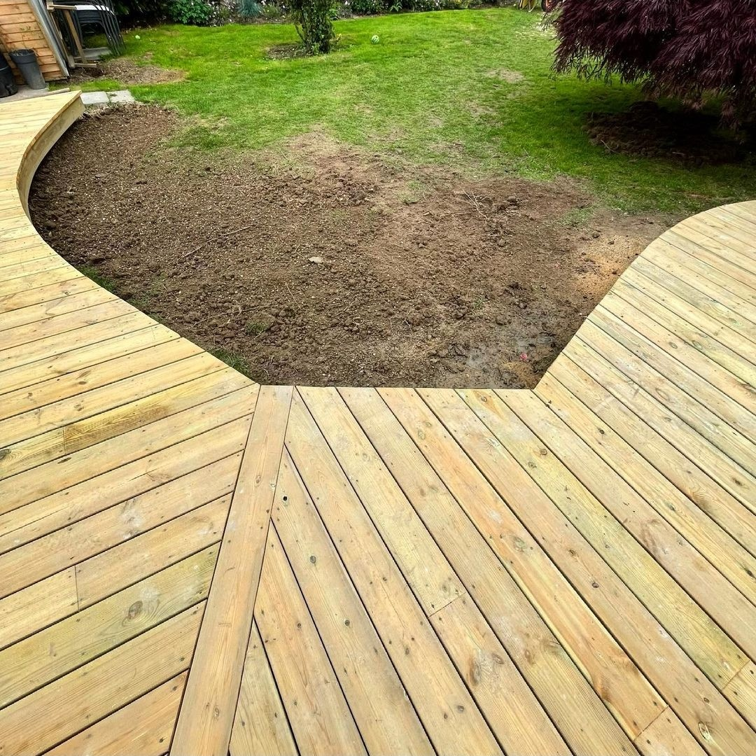 unusual timber decking ideas