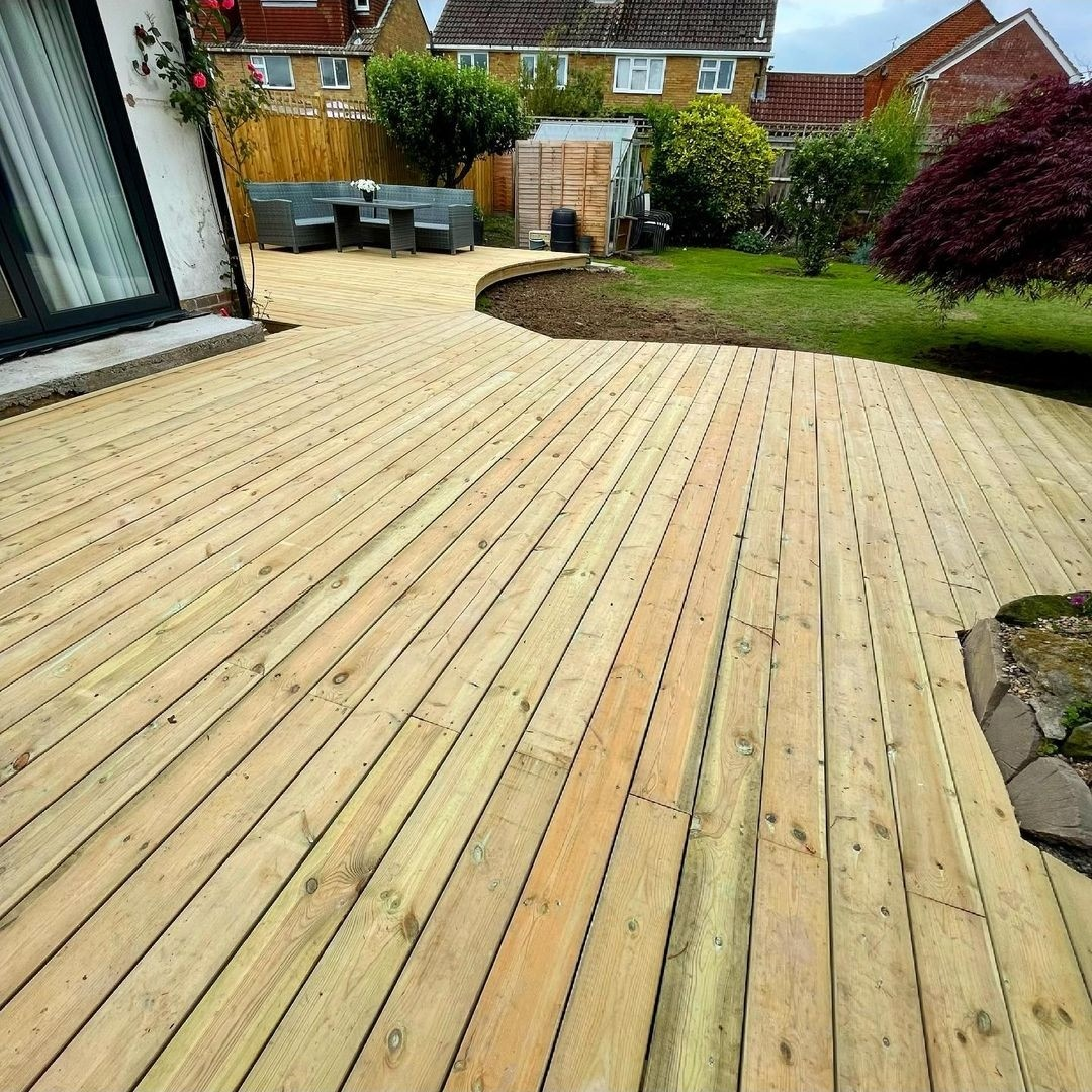 stylish timber decking