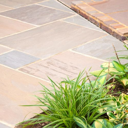 Raj green sandstone paving - project pack