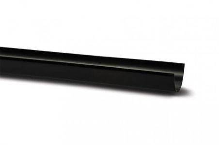 Polypipe Deep Capacity Rain Water Gutter Black Plastic 4 Metre 117mm