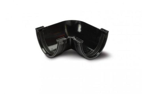 Polypipe Deep Capacity Gutter Angle 90 Deg Black Plastic 117mm