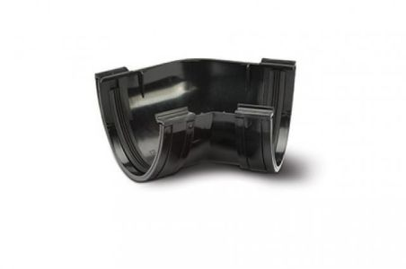Polypipe Deep Capacity Gutter Angle 135 Deg Black Plastic 177mm