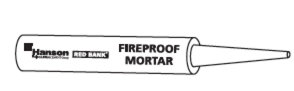Rediflow Fireproof Mortar Cartridge