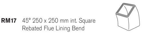 250mm SQ Concrete Flue Liner Bend