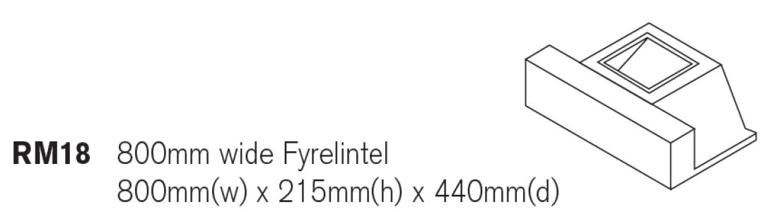 Fyrelintel To Suit 250mm SQ Flues Class 1