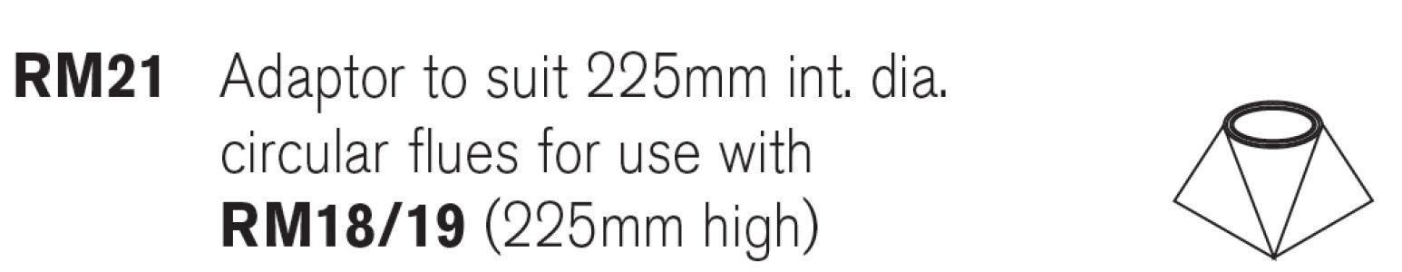 250mm SQ Concrete Flue Adaptor