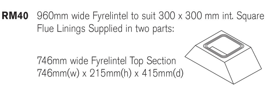 Fyrelintel Top For 960mm Base