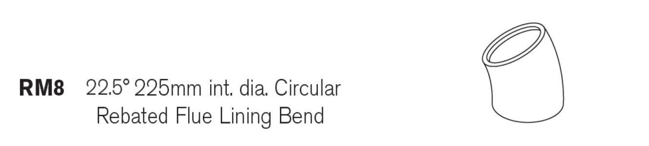 22.5 Dia Bend Round Concrete Flue Liner