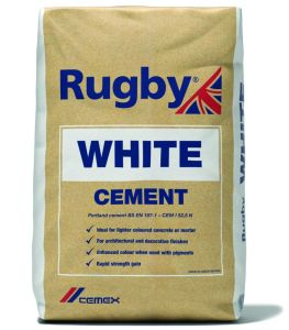 Rugby White Cement 25Kg Bag