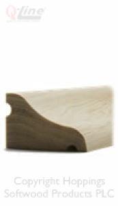 Reversible Softwood Door Weather Bar